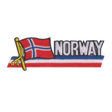 Bendera Norwegia Besi Pada Bordir Patch