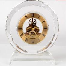 Regalo cristalino cristalino promocional del reloj de tabla para los regalos de los recuerdos del negocio