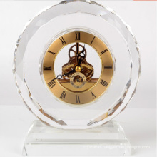Promotional Crystal Table Clock Crystal Gift for Business Souvenirs Gifts