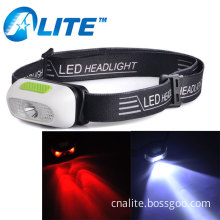 Lightweight Rechargeable USB Head Lamp LED Camping Headlamp with Red Light