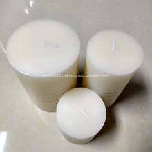 no candle holder pillar candle
