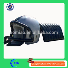 customized designed inflatable football helmet with tunnel
