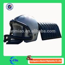 Personalizado projetado capacete de futebol inflável com túnel