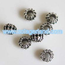 Wholesale 7.5*10 MM Tibetan Silver Charms Spacer Beads Jewelry Findings