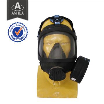 Máscara de gas químico de la policía militar profesional