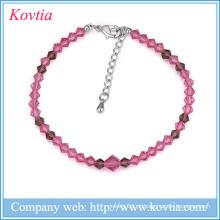 2016 rodada contas pulseira popular pequeno contas pulseira mulheres jóias vermelho frisado pulseira