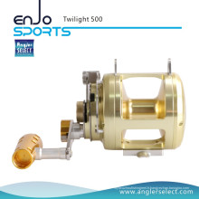 Angler Select Twilight Sea Fishing Aluminium 8 + 1 Bearing Sound Alarm Trolling Reel Fishing Tackle (Twilight 500)