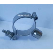Support à tuyau rond en acier inoxydable avec poignée