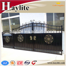 New design decorative forged iron main gate for drive way