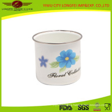 2015 New Design Enamel Mug with Elegant Decal