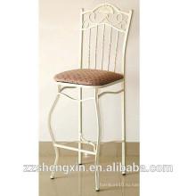 Античный стальной спинковый стул с губкой