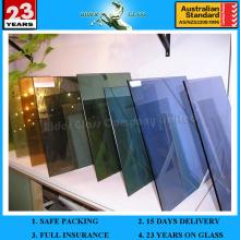 Verre à 3 vitres et verre teinté de 3 à 12 mm avec AS / NZS 2208