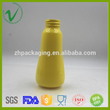 PET vacía ronda transparente champú botella de plástico 200ml