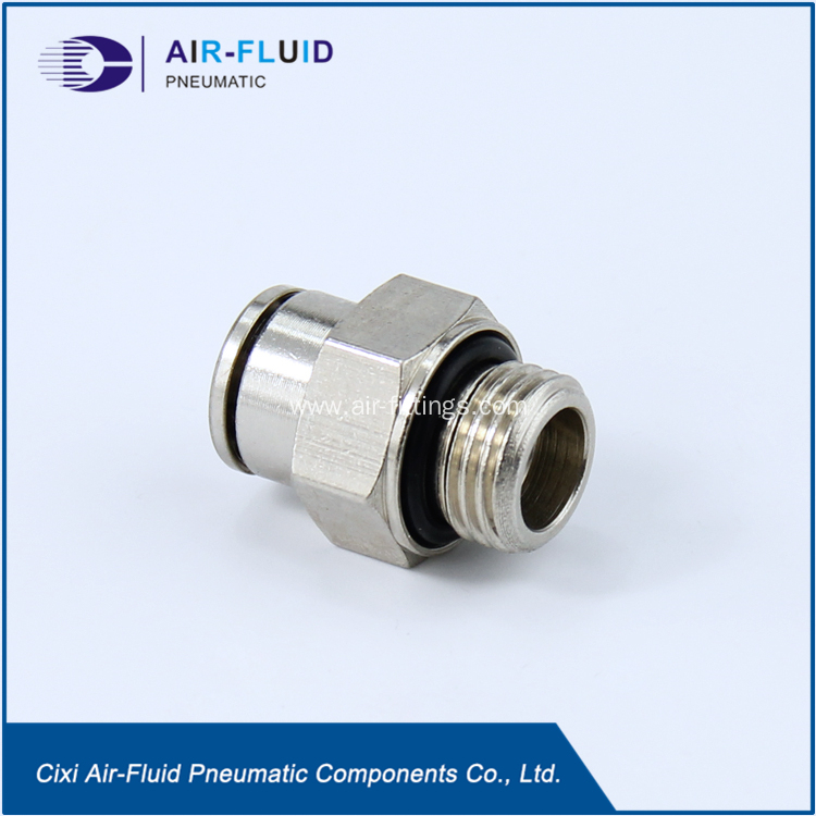 China air fluid brass push in fittings male connector