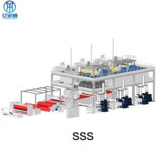 Línea de maquinaria de fabricación de telas no tejidas spunbonded SSS PP