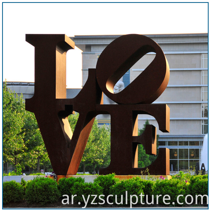 steel love sculpture