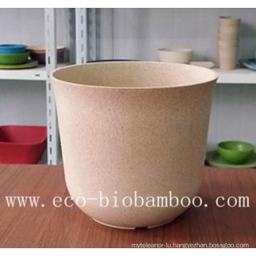 Biodegradable Bamboo Fiber Garden Flower Pot (BC-F5008)