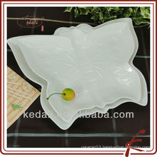 China Factory White Ceramic Porcelain Serving Dish Plant Dinner Set