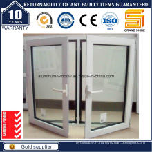 2015 Top Rank Powder Coating White Aluminium Casement Window
