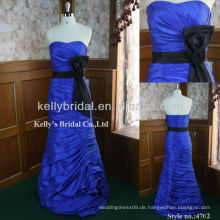 Brautjungfer Kleid auf Verkauf royal blau und schwarz Brautjungfer Kleider