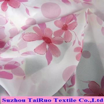 Mousseline de soie de tissu imprimé de polyester de haute qualité pour la mode des dames