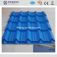 Hangzhou farbige Wellpappe Stahl Dachziegel Steckverfahren Stahl Dachbahnen