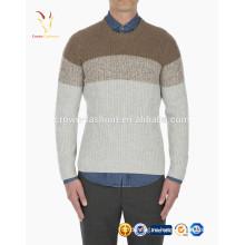 Мужская 100% шерсти вязать свитер градиент узоров