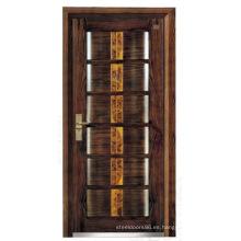 Italia puerta de acero blindada puerta dormitorio proveedor China (F6008)