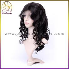 Para afro-americanos 100% Cuticle Custom Hair Fashion Top de seda peruca cheia do laço