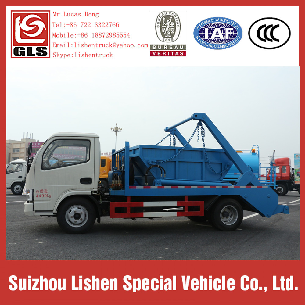 Dongfeng Europe 2 Swing Arm Garbage Truck 4 * 2 DFAC