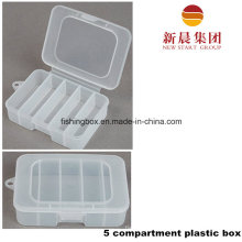 5 Vertical Compartment Storage Plastic Box