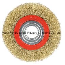 Kreisförmige Bürsten gewellt Draht 4′′ für die Schuh-Industrie