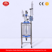 Réacteur de verre chemisé de laboratoire chimique