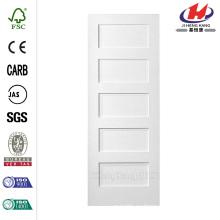30 pulg. X 80 pulg. Serie MDF Liso de 5 paneles Igual Solid Core Primado Compuesto Single Prehung Puerta interior