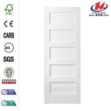 30 in. x 80 in. MDF Series Smooth 5-Panel Equal Solid Core Primed Composite Single Prehung Interior Door