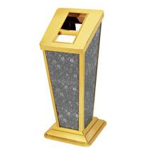 Dustbin de aço inoxidável com cinzeiro para lobby (YW0064)
