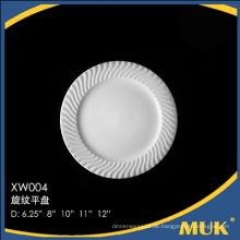 Meistverkaufte Produkte Airline verwenden billige weiße Porzellan Platte