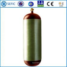 Cilindro de fibra de carbono de aço sem costura 50L CNG (ISO11439)