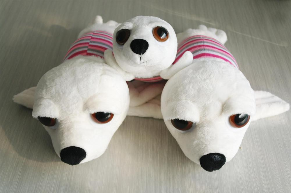 Blue And Pink Ocean Seals Plush Toy