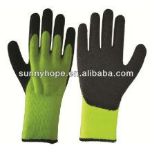 Les gants de travail thermique acrylique, le paume et le pouce ont creusé