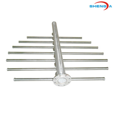 ส่วนหัวของ SS Solid Wedge Wire Collector Laterals