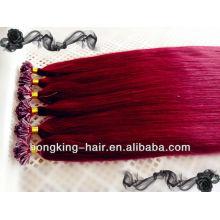 Fabrikpreis billig 5A erstklassiges Haarspitzenhaarverlängerungen des Haares 100% prebounded Haar in Qingdao