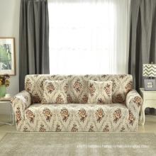 pringted I shape shaped velvet stretch 3 set pulsh sofa cover covers  for living room