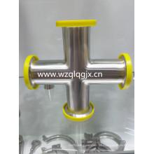 Sanitary Stainless Steel Pipe Fitting Butt Soldagem Cruz