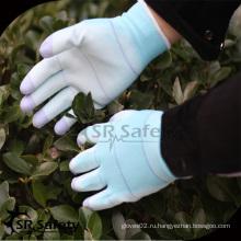 SRSAFETY 13 мешок самая дешевая перчатка безопасности перчатки PU перчатка