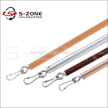 Baton de fibre de verre pour le matériel de draperie Baguette de rideau de 8 mm Bâton de main avec pièce jointe