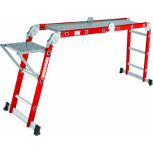 Aluminum Multi-Purpose Ladder with plafmort wring