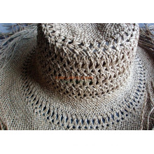 Woven Raffia Straw Hat Body W/Neck Vent Direct Factory Supplier From China
