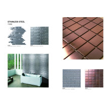 Gold Stainless Steel Mosaic Wall Tile