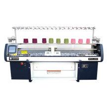 Máquina de confecção de malha de tecido de sistema duplo sistema único
